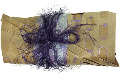 gift wrapping : : fuzzy yarn