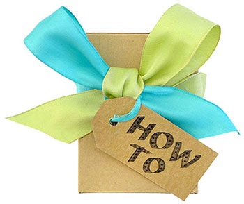 how to : : tying a gift bow
